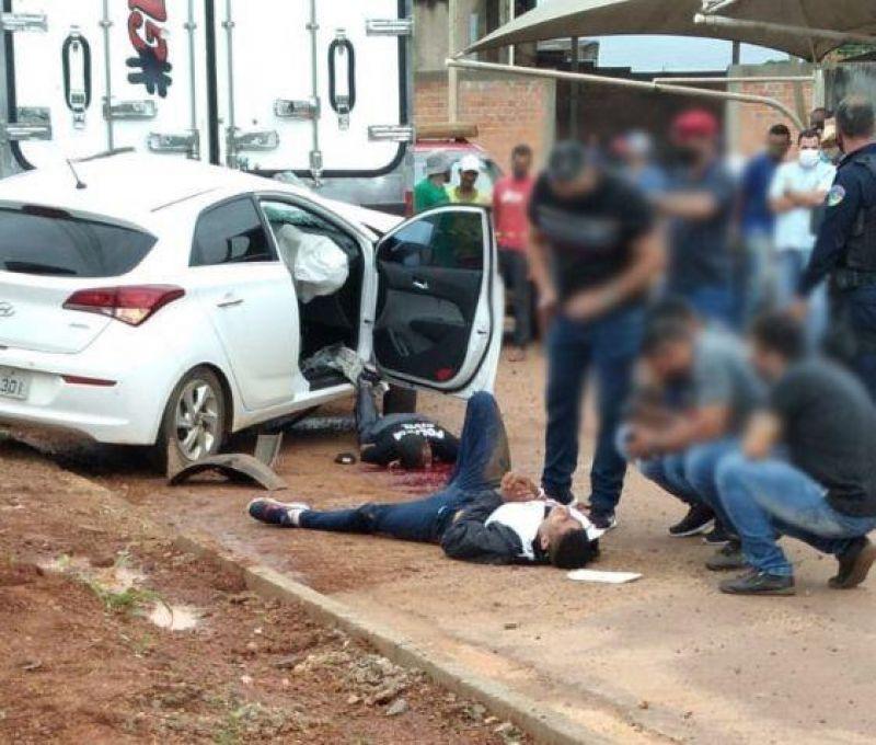 Vídeo mostra momento do tiroteio que feriu sargento do Bombeiro e matou um suspeito em Cacoal