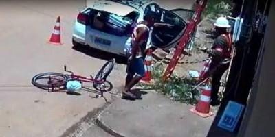 Eletricistas da Energisa são roubados enquanto cortavam energia de residência