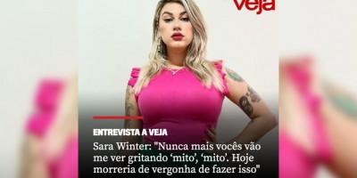 Sara Winter, ex-ativista e apoiadora de Bolsonaro diz: ''Nunca mais vocês vão me ver...