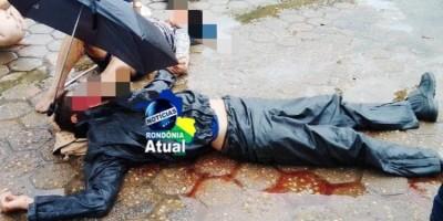 Mãe e filho ficam feridos em acidente entre moto e caminhonete em Ji-Paraná