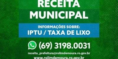 Rolim de Moura: Prazo para pagar IPTU com 20% de desconto termina amanhã