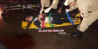 Idoso é socorrido em estado grave após ser atropelado por moto na RO-010 em Rolim de...