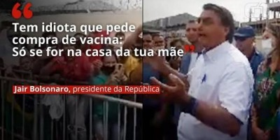 Bolsonaro, que ano passado disse que não iria atrás de imunizante contra covid, diz:...
