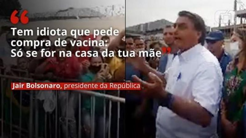 Bolsonaro, que ano passado disse que não iria atrás de imunizante contra covid, diz: