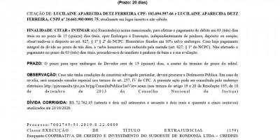 EDITAL DE CITAÇÃO - LUCILAINE APARECIDA DETZ FERREIRA
