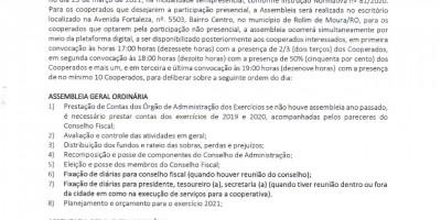 EDITAL DE CONVOCAÇÃO - COOPROHOROM