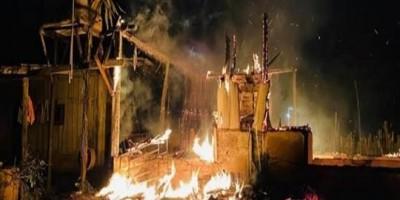 Após discussão com membros de facção, homem tem residência destruída por incêndio