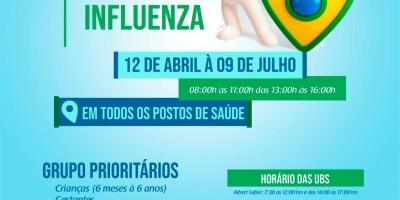 Grupos prioritários já podem receber a vacina contra a gripe em Rolim de Moura