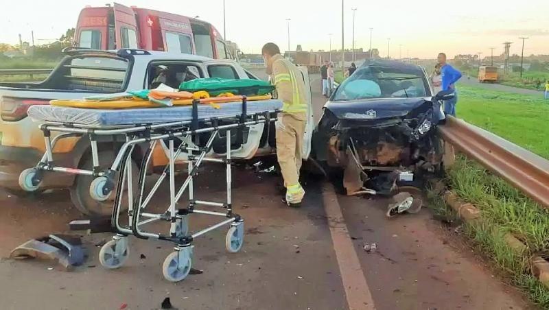 Motorista de aplicativo morre em grave acidente na BR-364 em Vilhena