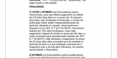EDITAL DE CITAÇÃO e INTIMAÇÃO - RONNE THALES BARROS GOUVEIA