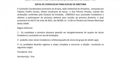 EDITAL DE CONVOCACAO PARA ELEICAO DE DIRETORIA  - ARUANA
