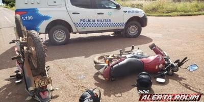Dois motociclistas ficam feridos após colisão entre motos no Bairro Industrial em Rolim...