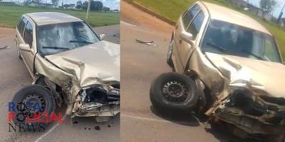 Motorista sai sem ferimentos após colidir contra carreta em Vilhena