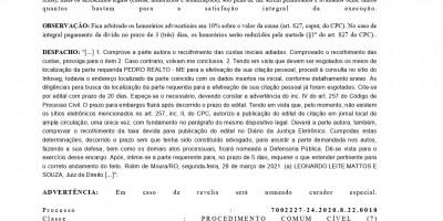EDITAL DE CITAÇAO - PEDRO REALTO ME