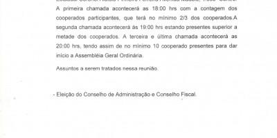 EDITAL DE CONVOCAÇÃO - COOPMOTOS