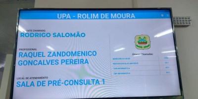 UPA de Rolim de Moura conta com painel eletrônico para chamar paciente para consulta