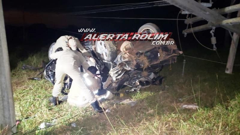 Rolim de Moura: Mulher fica presa às ferragens de veículo após grave acidente na RO-479
