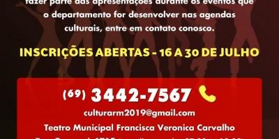 Rolim de Moura: Departamento de Cultura abre inscrições para projetos de música e...