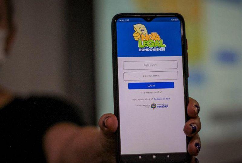 Aplicativo Nota Legal Rondoniense é lançado pelo Governo de Rondônia; contribuintes concorrem a prêmios de até R$ 20 mil