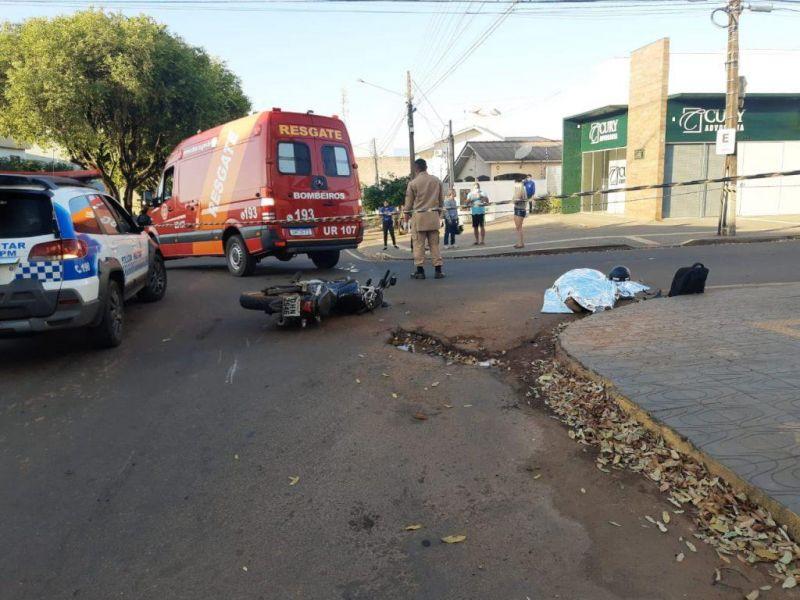 Grave acidente no centro de Cacoal tira a vida de trabalhador