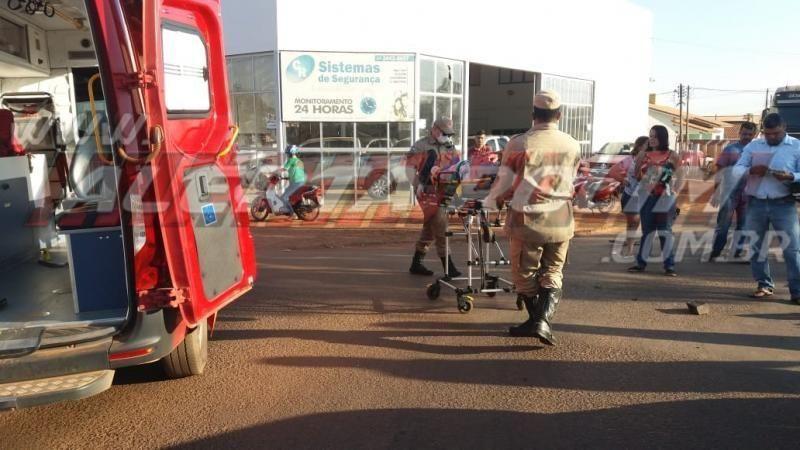 Acidente deixa condutor de moto ferido em Rolim de Moura