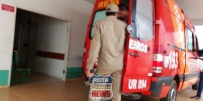 Garoto de 14 anos fica ferido em acidente em Vilhena