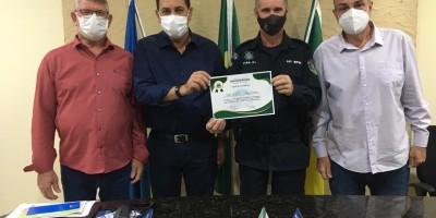 Rolim de Moura: PM recebe menção honrosa da prefeitura por apoio nas ações de combate...