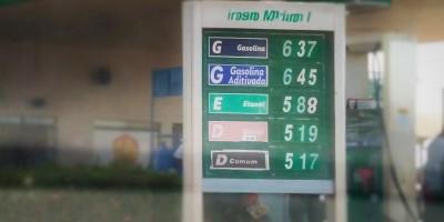 Gasolina tem novo reajuste e já chega a R$ 6,37 em Rolim de Moura