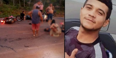 Jovem morre após grave acidente envolvendo duas motos e um carro na RO-383 em Cacoal