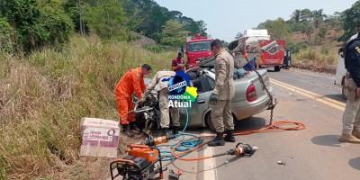Grave acidente na BR-364, entre Ji-Paraná e Ouro Preto, deixa um morto e outra...