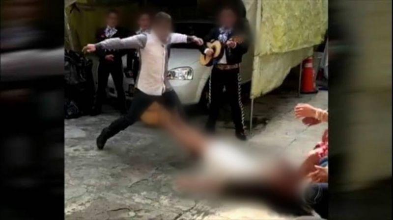 Mulher desmaia após ser espancada pelo marido embriagado