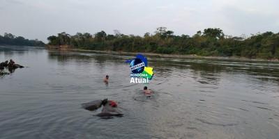 Irmãos de 19 e 10 anos morrem afogados no Rio Urupá em Ji-Paraná