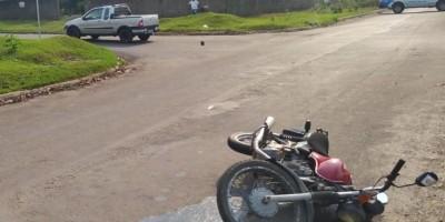 Motociclista fica gravemente ferido em acidente entre moto e carro em Nova Brasilândia