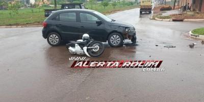 Mais um condutor avança via preferencial, causando outro acidente nesta manhã de...