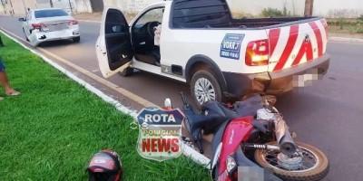 Engavetamento: colisão envolve dois carros e uma motoneta na BR-174 em Vilhena