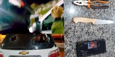 Vândalos causam quebra-quebra e destroem mais de 10 carros em Cacoal; veja vídeos