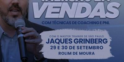 Rolim de Moura sediará Imersão em Vendas nesta quarta e quinta-feira, com Jaques...