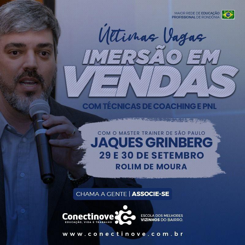 Rolim de Moura sediará Imersão em Vendas nesta quarta e quinta-feira, com Jaques Grinberg