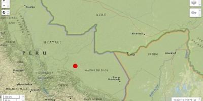Terremoto registrado no Peru na noite de sábado é sentido em Porto Velho