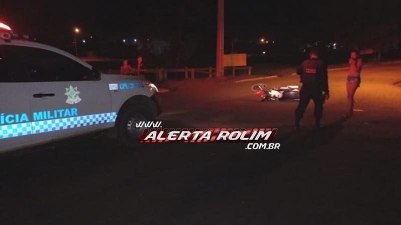 Duas motos se chocam em acidente na av. 25 de Agosto em Rolim de Moura