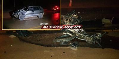 Motociclista morre em grave acidente na RO-479 em Rolim de Moura; veja o vídeo