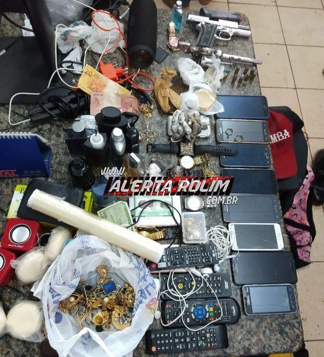 Cacoal – Quadrilha envolvida em roubos, tráfico entre outros crimes é presa pela PM com armas de fogo, drogas e produtos roubados