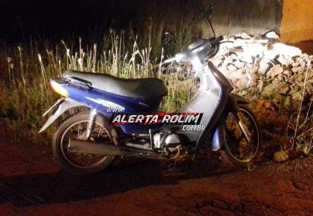 Rolim de Moura - Moto furtada durante a feira livre é recuperada cerca de quatro horas depois pela Polícia Militar