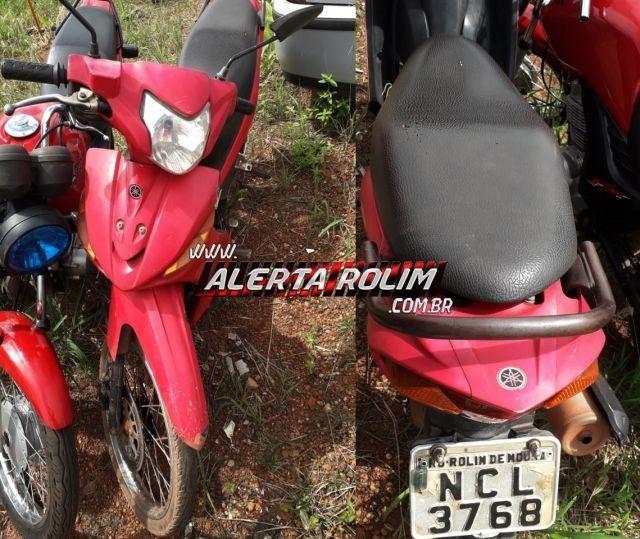 Rolim de Moura – Moto furtada é recuperada pela equipe da Ptran da PM, após vítima ter estacionado o veículo para ir trabalhar