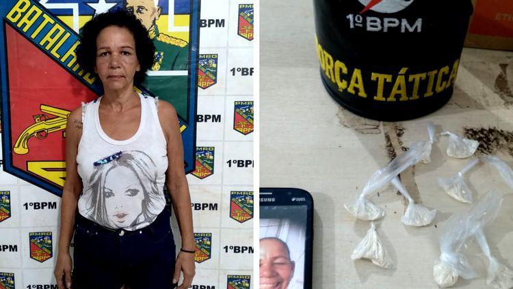 """CAIU: """"Lili Carabina"""" que enviava fotos da PM em grupos de Whatsapp é presa por tráfico"""