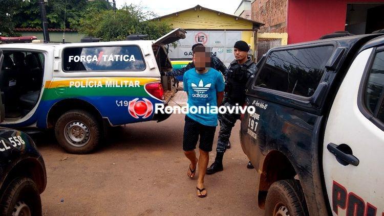 ESCONDIDO: PM arromba porta de residência e prende suspeito com carro levado de mulher