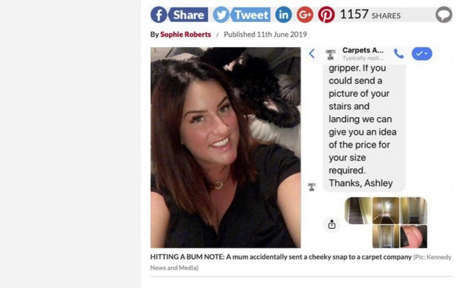 Mulher manda foto do seu bumbum por engano para grupo da empresa