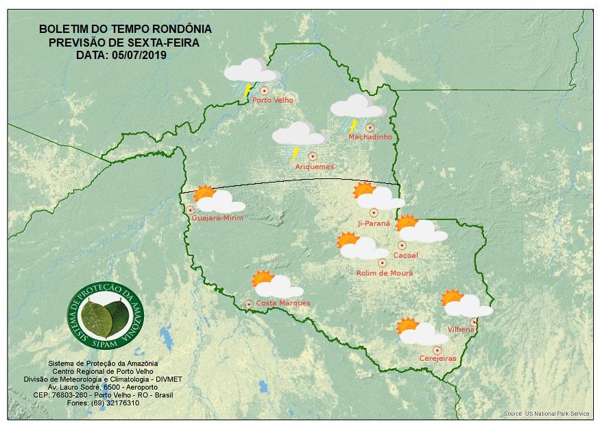 FRENTE FRIA: Temperaturas devem cair em Rondônia a partir desta sexta-feira