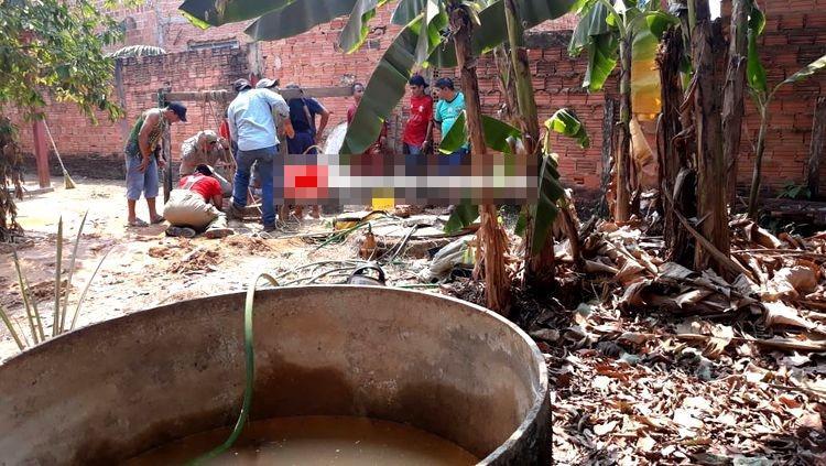 SOTERRADO: Após horas de sofrimento, trabalhador é retirado de poço