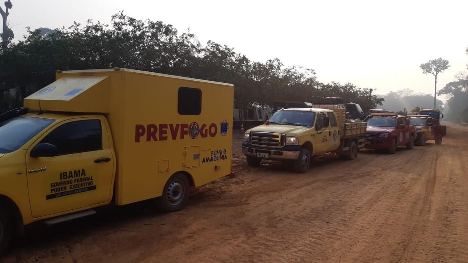 FOTOS: Veja imagens da operação de combate às queimadas em Rondônia